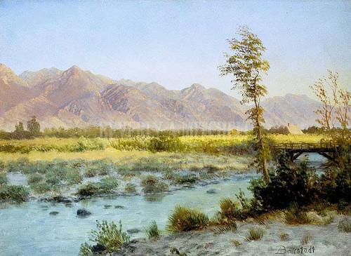Western Landscape 121 by Albert Bierstadt