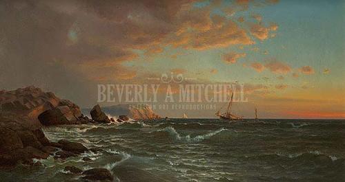 Sailing At Twilight by Francis A. Silva