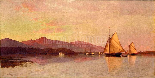 The Hudson River Looking Toward The Catskills by Francis A. Silva