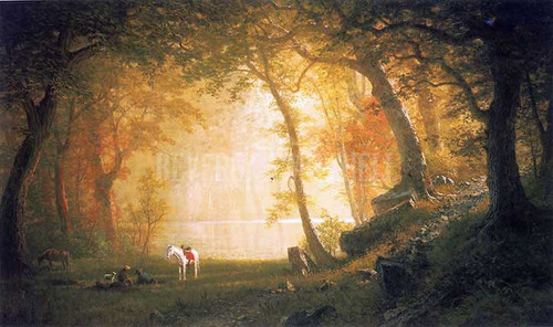 A Rest On The Ride by Albert Bierstadt