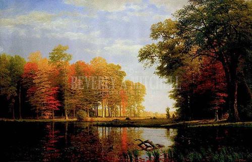 Autumn Woods by Albert Bierstadt
