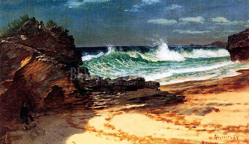 Beach At Nassau by Albert Bierstadt