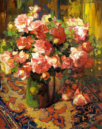 A Bouquet Of Roses1 by Franz Bischoff