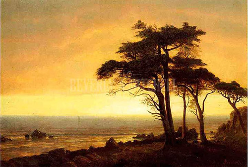 California Coast by Albert Bierstadt