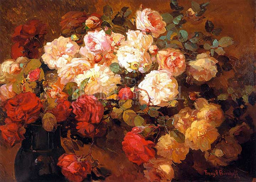 A Bouquet Of Roses by Franz Bischoff
