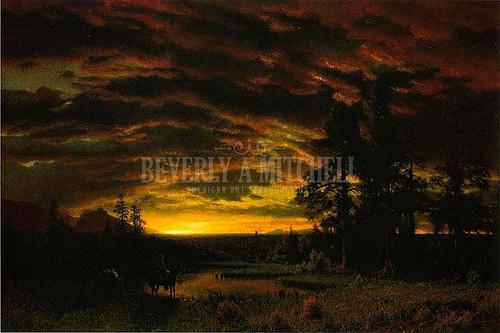 Evening On The Prairie by Albert Bierstadt