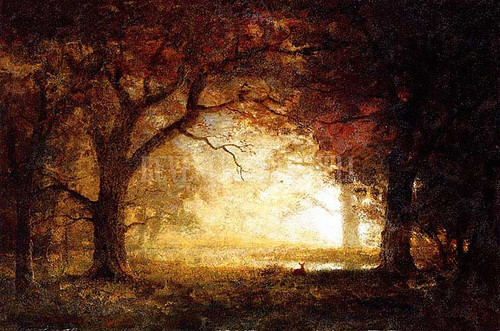 Forest Sunrise by Albert Bierstadt