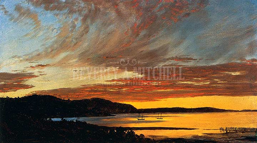 Sunset Bar Harbor by Frederic Edwin Church