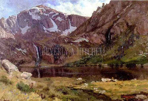 Mountain Lake 12 by Albert Bierstadt