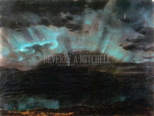 Aurora Borealis Mt. Desert Island From Bar Harbor Maine by Frederic Edwin Church
