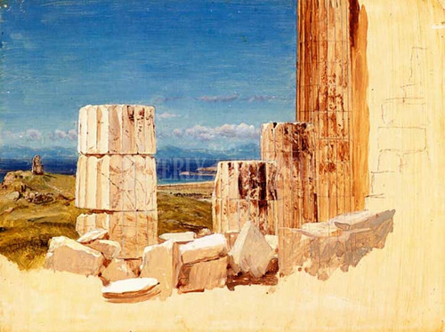 Broken Columns View From The Parthenon Athens by Frederic Edwin Church