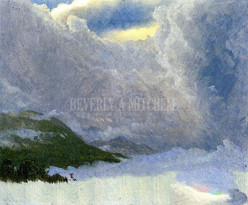 Storm In The Blue Mountains Jamaica by Frederic Edwin Church