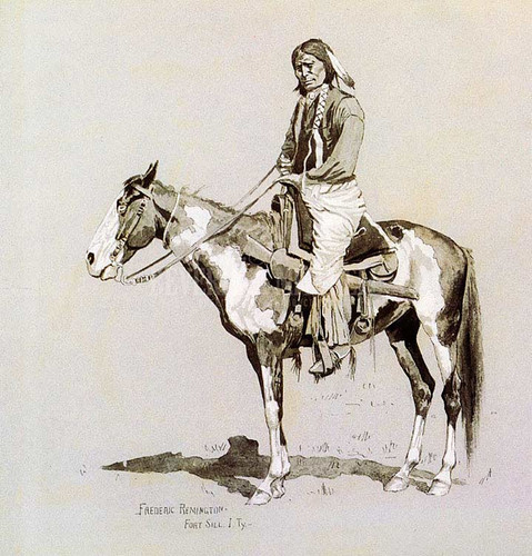 Commanche On Horseback by Frederic Remington