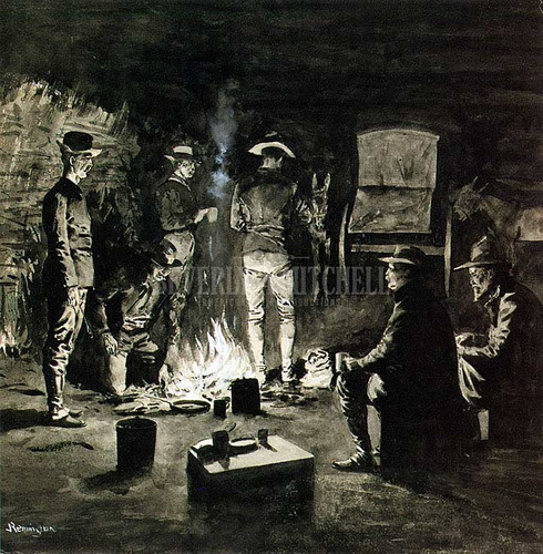 Supper In The Corral by Frederic Remington