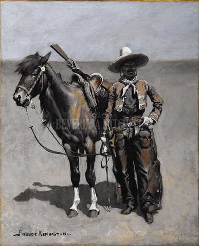 A Mexican Buccaro In Texas by Frederic Remington