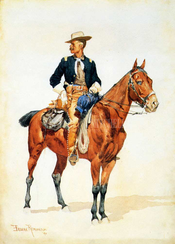 Lieutenant S. C. Robertson Chief Of The Crow Scouts by Frederic Remington