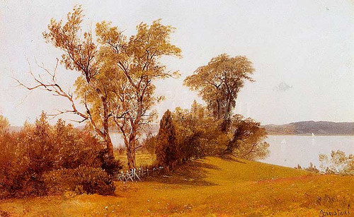 Sailboats On The Hudson At Irvington by Albert Bierstadt
