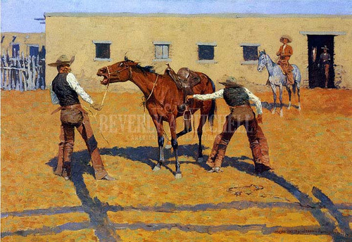 His First Lesson by Frederic Remington