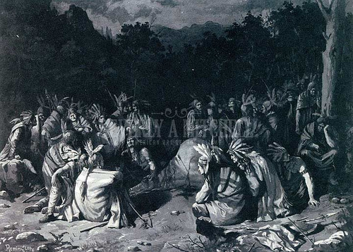 Indian Gathering by Frederic Remington