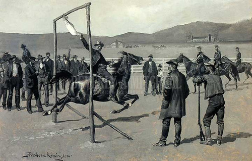 A Gander Pull by Frederic Remington