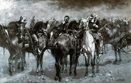 Cavalry In An Arizona Sandstorm by Frederic Remington