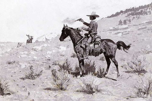 He Was The Law by Frederic Remington