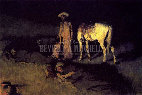 In From The Night Herd by Frederic Remington