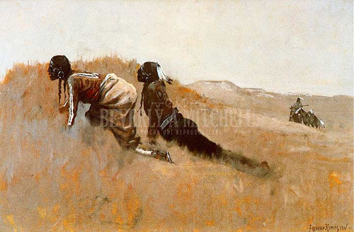 Indian Scouts Watching Custers Advance by Frederic Remington