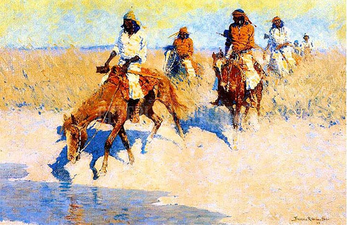 Pool In The Desert by Frederic Remington