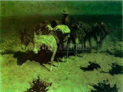 A Pack Train by Frederic Remington