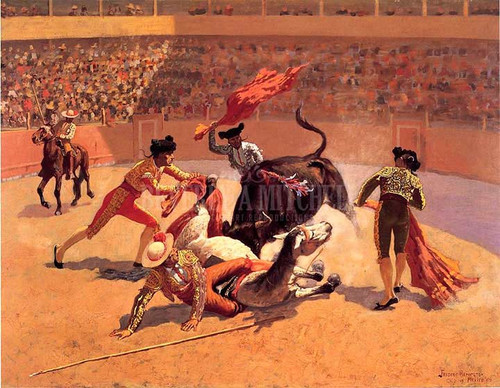 Bull Fight In Mexico by Frederic Remington