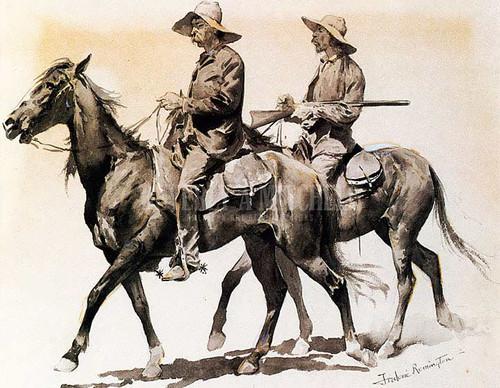 Cracker Cowboys Of Florida by Frederic Remington
