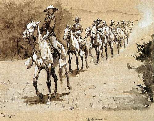 In The Desert by Frederic Remington