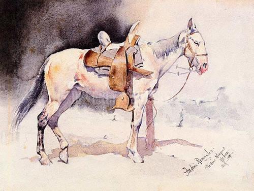 Mexican Pony Piedras Neagras by Frederic Remington