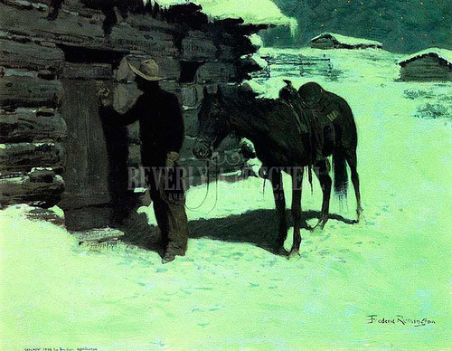 The Belated Traveler by Frederic Remington
