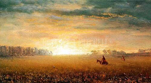 Sunset Of The Prairies by Albert Bierstadt