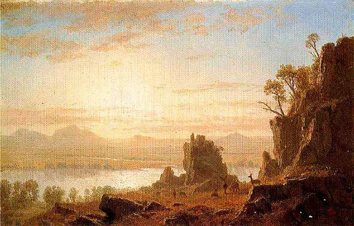 The Columbia River Oregon by Albert Bierstadt
