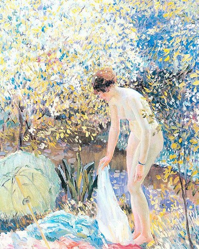 Cherry Blossoms by Frederick Carl Frieseke