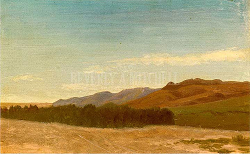 The Plains Near Fort Laramie by Albert Bierstadt