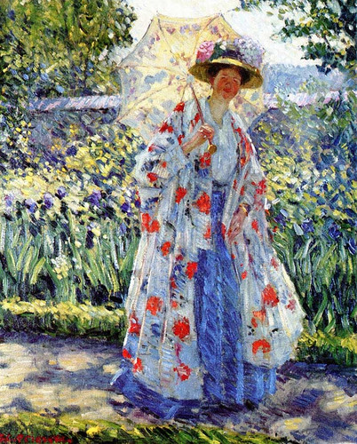 Promenade In The Garden by Frederick Carl Frieseke