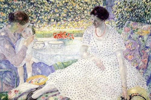 Breakfast In The Garden 1 by Frederick Carl Frieseke