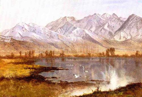 Wassatch Mountains Utah by Albert Bierstadt