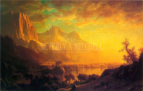 Wind River Wyoming by Albert Bierstadt