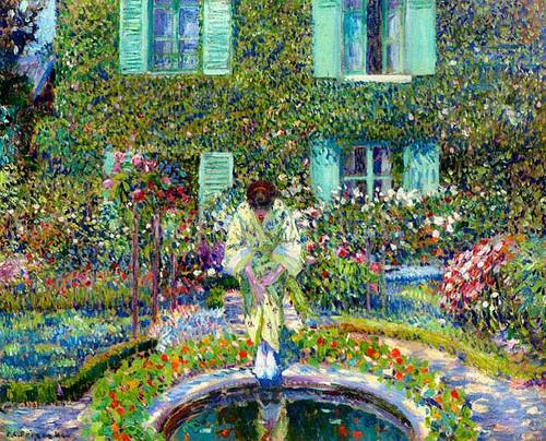 The Garden Pool by Frederick Carl Frieseke