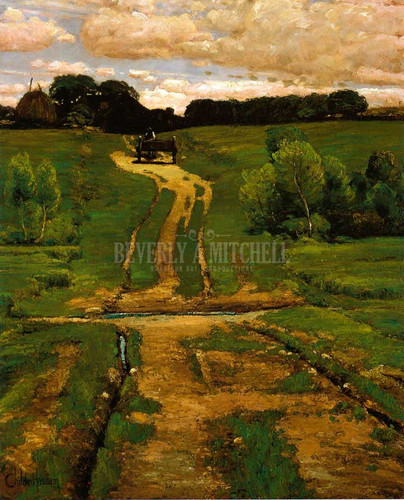 A Back Road by Frederick Childe Hassam