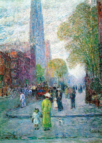 Cathedral Spires Spring Morning by Frederick Childe Hassam