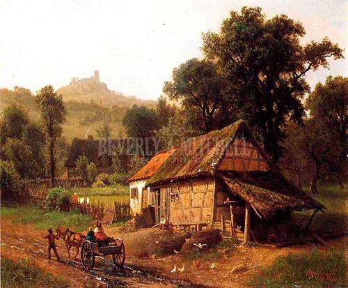 In The Foothills by Albert Bierstadt