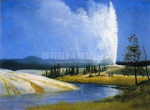 Old Faithful 1 by Albert Bierstadt