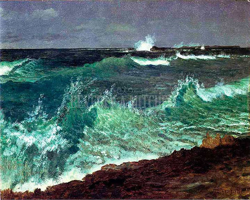 Seascape by Albert Bierstadt