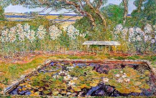 A Long Island Garden by Frederick Childe Hassam